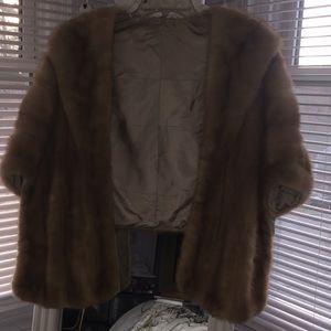 Vintage Real Fur Mink Stole / Shawl